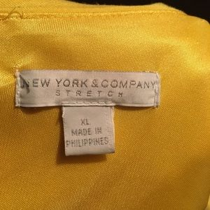 New York & Company Dresses - NWT! Vibrant Yellow One Shoulder Dress